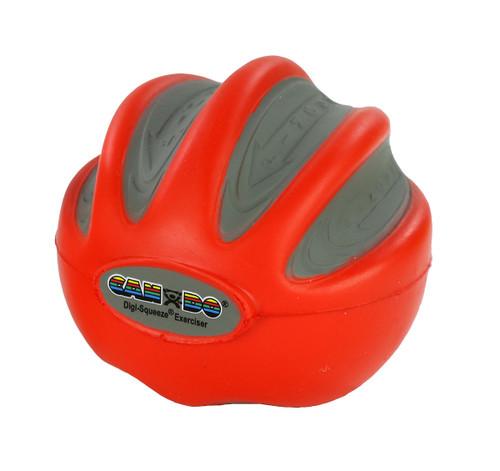 CanDo¨ Digi-Squeeze¨ hand exerciser - Medium - Red, light