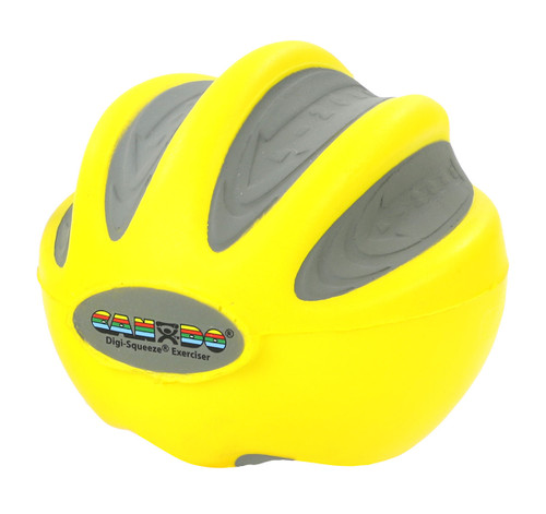 CanDo¨ Digi-Squeeze¨ hand exerciser - Large - Yellow, x-light