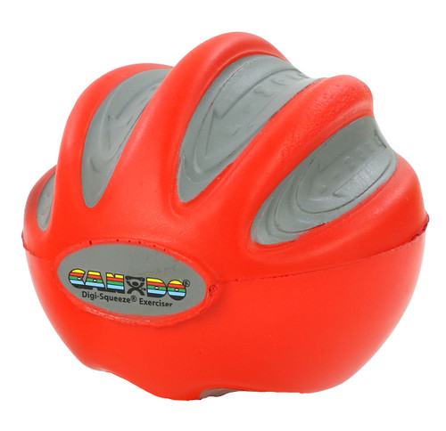CanDo¨ Digi-Squeeze¨ hand exerciser - Large - Red, light