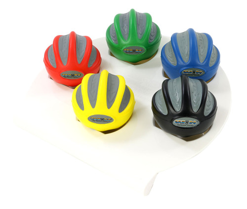CanDo¨ Digi-Squeeze¨ hand exerciser - Large - set of 5 pieces (yellow, red, green, blue, black), with rack