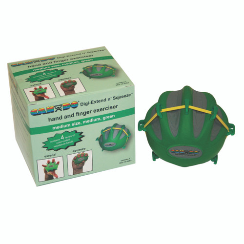 CanDo¨ Digi-Extend n' Squeeze¨ Hand Exerciser - Medium - Green, moderate
