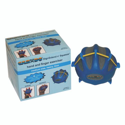 CanDo¨ Digi-Extend n' Squeeze¨ Hand Exerciser - Medium - Blue, heavy