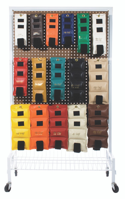 The Cuff¨ Deluxe Ankle and Wrist Weight - 32 Piece Set with Rack - 2 each .25 - 10 lb