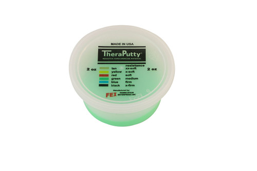 CanDo¨ Antimicrobial Theraputty¨ Exercise Material - 2 oz - Green - Medium