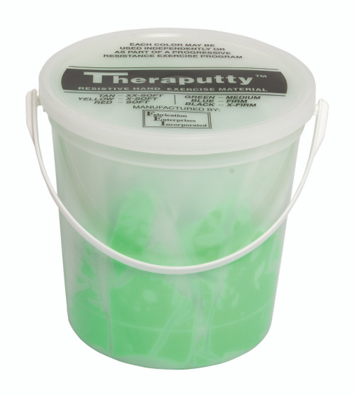CanDo¨ Antimicrobial Theraputty¨ Exercise Material - 5 lb - Green - Medium