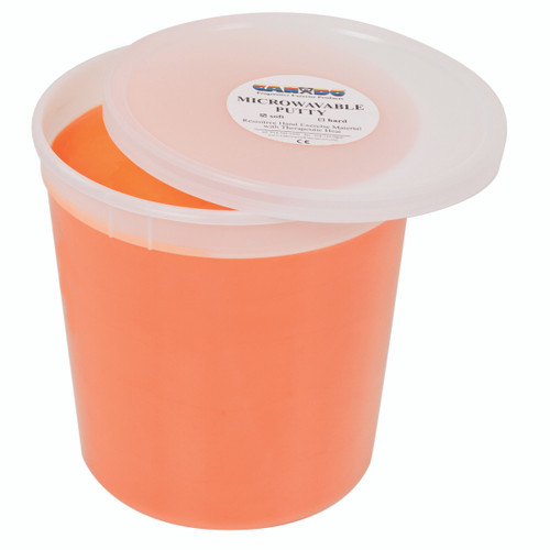 CanDo¨ Microwavable Theraputty¨ Exercise Material - 5 lb - Orange - Soft