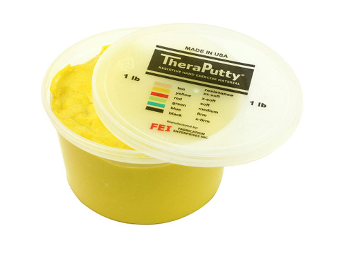 CanDo¨ Sparkle Theraputty¨ Exercise Material - 1 lb - Yellow - X-Soft