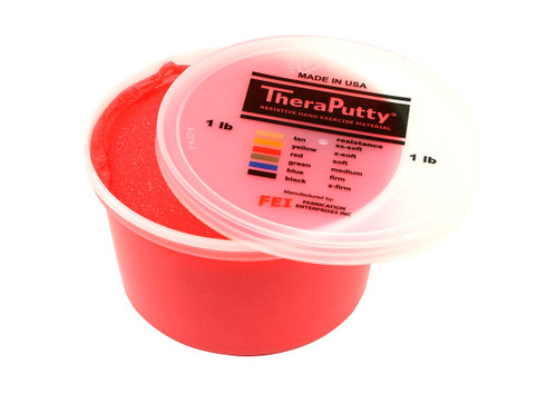 CanDo¨ Sparkle Theraputty¨ Exercise Material - 1 lb - Red - Soft