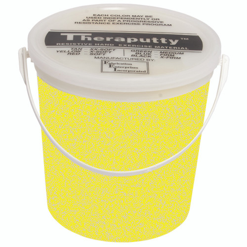 CanDo¨ Sparkle Theraputty¨ Exercise Material - 5 lb - Yellow - X-Soft