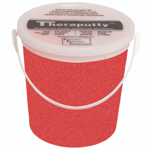 CanDo¨ Sparkle Theraputty¨ Exercise Material - 5 lb - Red - Soft
