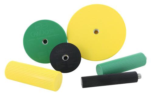 CanDo¨ Wrist/Forearm Exerciser Set: 3 Semi-Spheres; 3 Handles