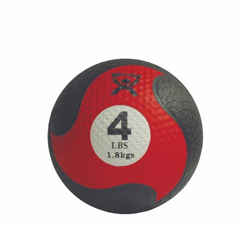 """CanDo¨ Firm Medicine Ball - 8"""" Diameter - Red - 4 lb"""