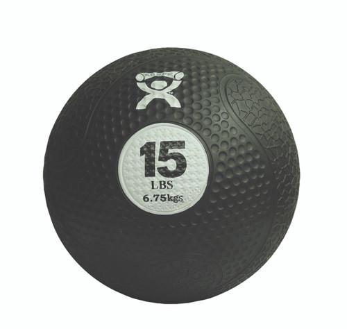 """CanDo¨ Firm Medicine Ball - 10"""" Diameter - Black - 15 lb"""