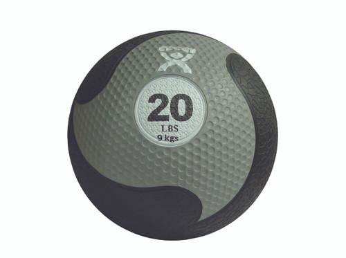"""CanDo¨ Firm Medicine Ball - 11"""" Diameter - Silver - 20 lb"""