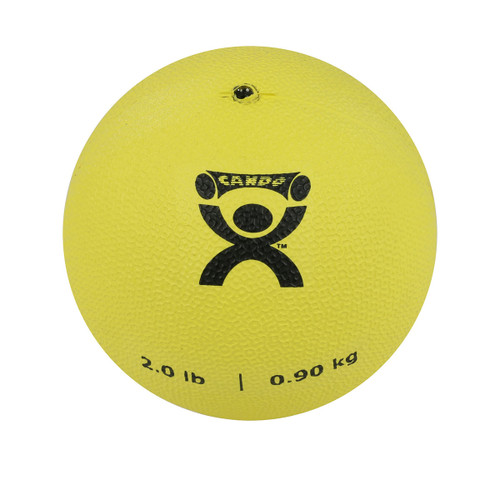 "CanDo¨ Soft Pliable Medicine Ball - 5"" Diameter - Yellow - 2 lb"