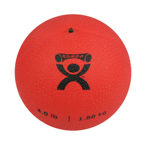 "CanDo¨ Soft Pliable Medicine Ball - 5"" Diameter - Red - 4 lb"