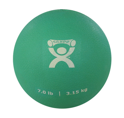 "CanDo¨ Soft Pliable Medicine Ball - 7"" Diameter - Green - 7 lb"