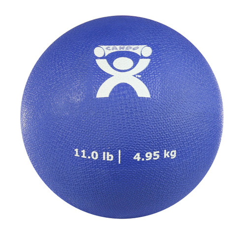 "CanDo¨ Soft Pliable Medicine Ball - 7"" Diameter - Blue - 11 lb"