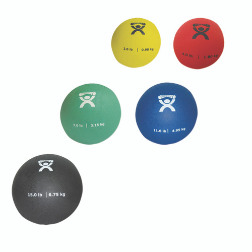 CanDo¨ Soft Pliable Medicine Ball - 5-piece set - 1 each: 2,4,7,11,15 lb