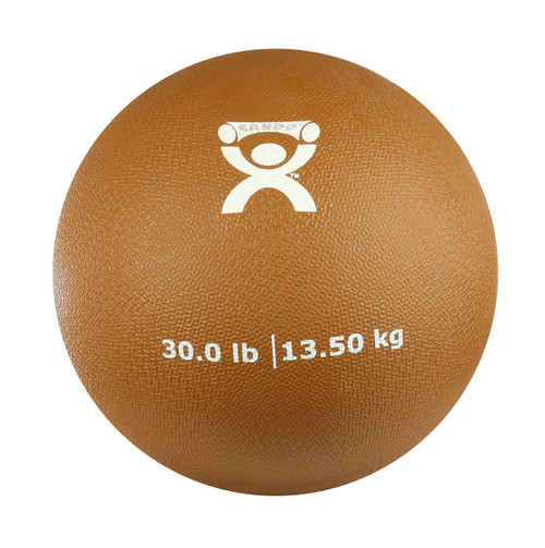 "CanDo¨ Soft Pliable Medicine Ball - 9"" Diameter - Gold - 30 lb"