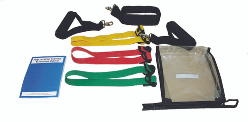CanDo¨ Adjustable Exercise Band Kit - 3 band (red, green, blue)