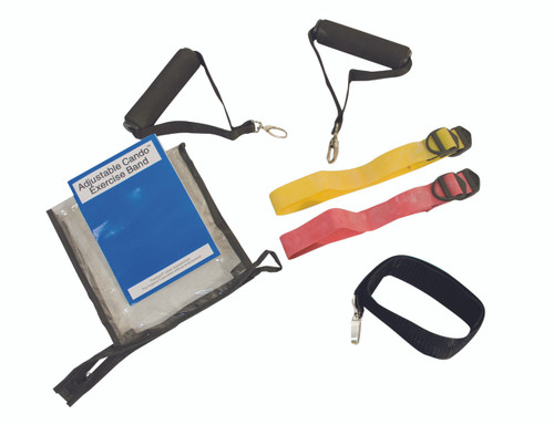 CanDo¨ Adjustable Exercise Band Kit - 2 band easy (yellow, red)