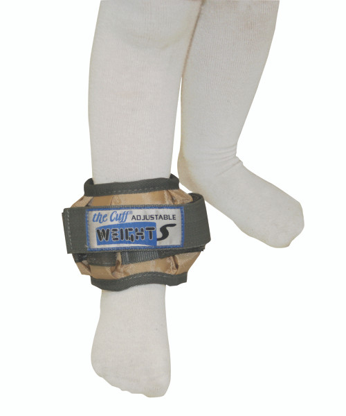 The Adjustable Cuff¨ pediatric ankle weight - 2 lb - 12 x 0.17 lb inserts - Tan - each