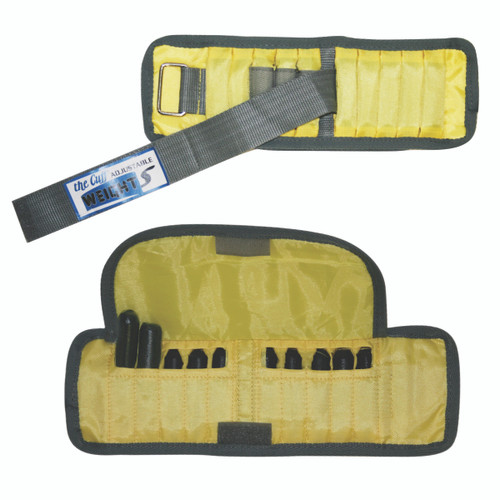 The Adjustable Cuff¨ wrist weight - 2 lb - 10 x 0.2 lb inserts - Yellow - pair