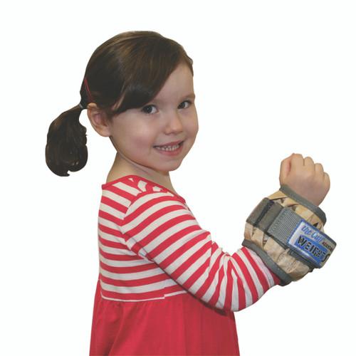 The Adjustable Cuff¨ pediatric wrist weight - 2 lb - 12 x 0.17 lb inserts - Tan - each
