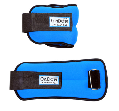 CanDo¨ Weight Straps - 4 lb Set (2 each: 2 lb weight) - Blue