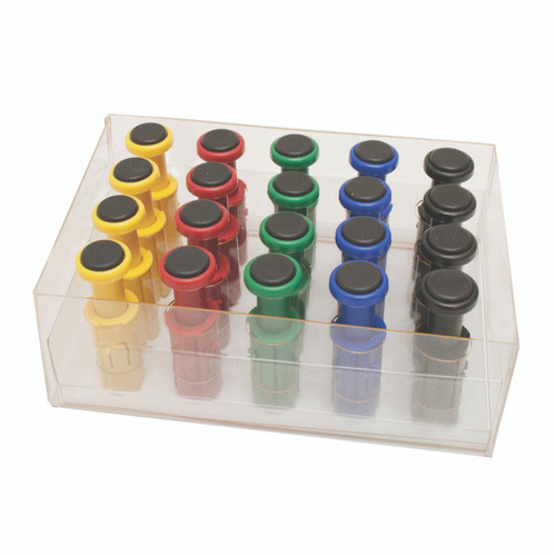 Digi-Flex Multi¨ - 20 Additional Finger Buttons w/ Box - 4 Each: Yellow, Red, Green, Blue, Black