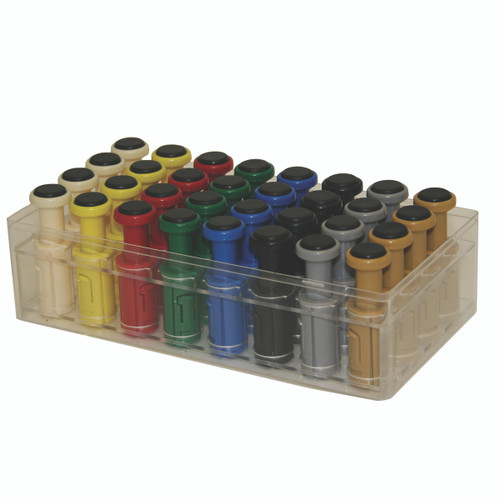 Digi-Flex Multi¨ - 32 Additional Finger Buttons w/ Box - 4 Each: Tan, Yellow, Red, Green, Blue, Black, Silver, Gold