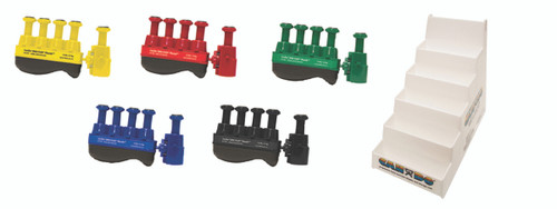 Digi-Flex Thumb¨ - Set of 5 (1 each: yellow, red, green, blue, black), with plastic stand