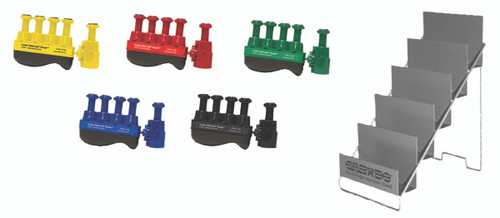 Digi-Flex Thumb¨ - Set of 5 (1 each: yellow, red, green, blue, black), with metal stand