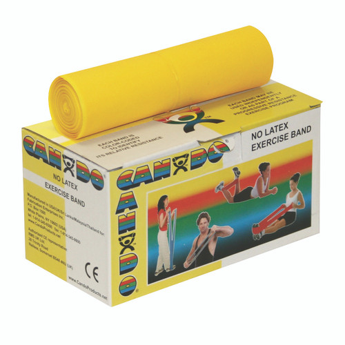 CanDo¨ Latex Free Exercise Band - 6 yard roll - Yellow - x-light