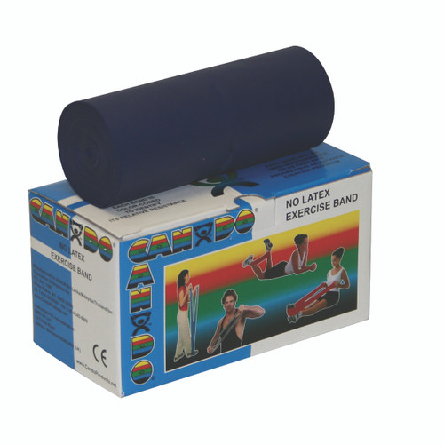 CanDo¨ Latex Free Exercise Band - 6 yard roll - Blue - heavy