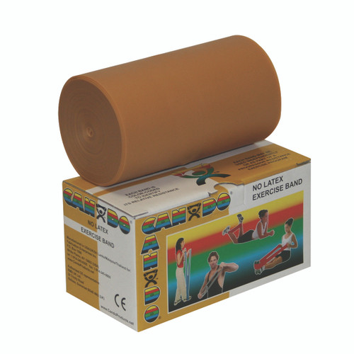CanDo¨ Latex Free Exercise Band - 6 yard roll - Gold - xxx-heavy