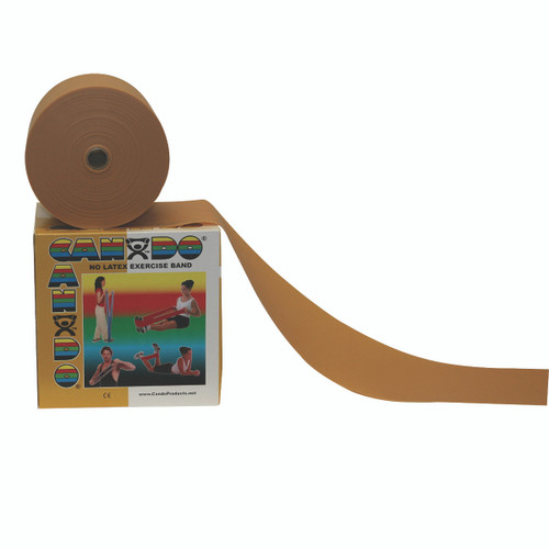 CanDo¨ Latex Free Exercise Band - 50 yard roll - Gold - XXX-heavy