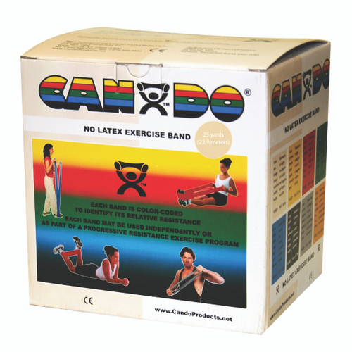 CanDo¨ Latex Free Exercise Band - 25 yard roll - Tan - xx-light
