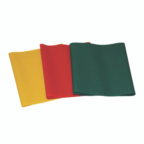 CanDo¨ Latex-Free Exercise Band - PEPª Pack - Easy (Yellow, Red, Green)