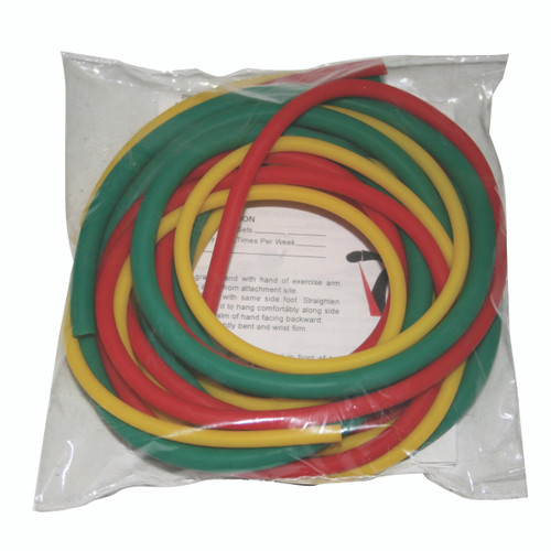 CanDo¨ Latex-Free Exercise Tubing - PEPª Pack - Easy (Yellow, Red, Green)