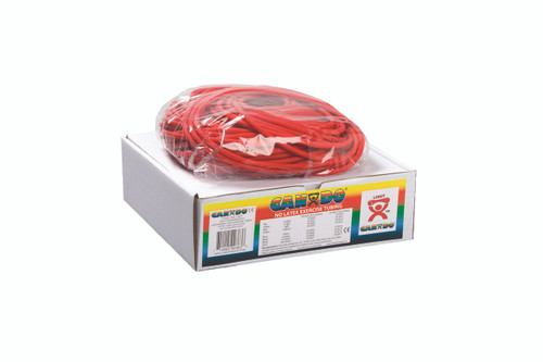 CanDo¨ Latex Free Exercise Tubing - 100' dispenser roll - Red - light