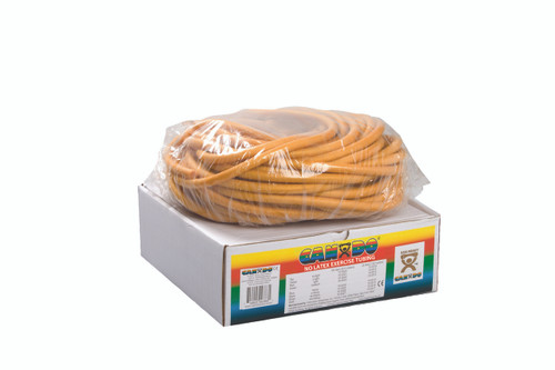 CanDo¨ Latex Free Exercise Tubing - 100' dispenser roll - Gold - xxx-heavy