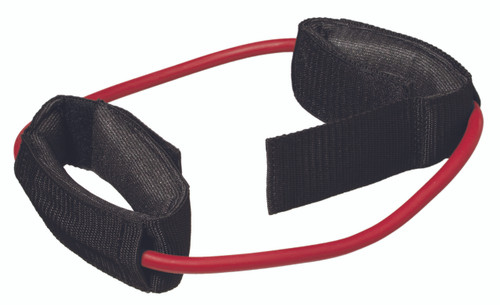 """CanDo¨ Exercise Tubing with Cuff Exerciser - 35"""" - Red - light"""