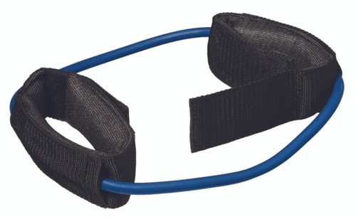 "CanDo¨ Exercise Tubing with Cuff Exerciser - 35"" - Blue - heavy"
