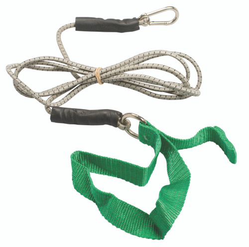 CanDo¨ exercise bungee cord with attachments, 7', Green - medium