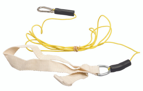 CanDo¨ exercise bungee cord with attachments, 4', Tan - xx-light