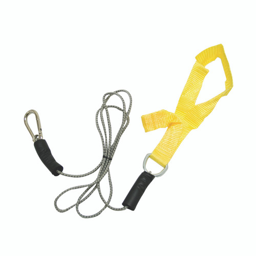 CanDo¨ exercise bungee cord with attachments, 4', Yellow - x-light