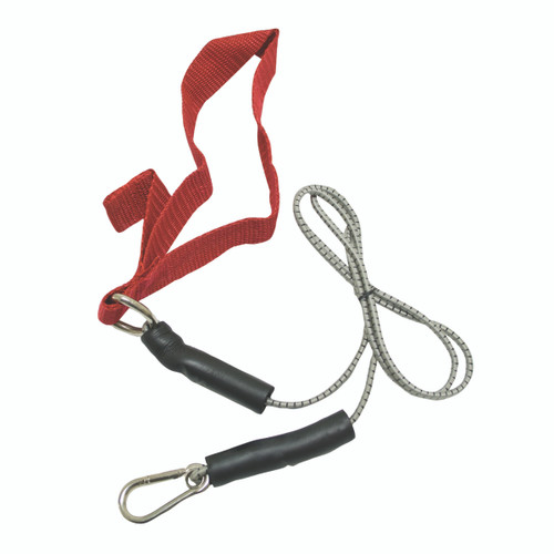 CanDo¨ exercise bungee cord with attachments, 4', Red - light