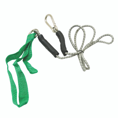 CanDo¨ exercise bungee cord with attachments, 4', Green - medium